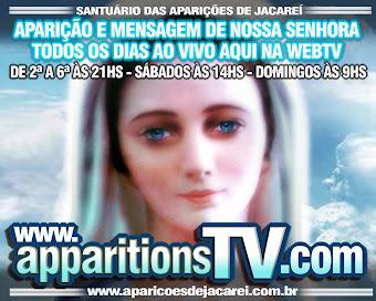 ACOMPANHE AO  VIVO AS ORAÇÕES E APARIÇÕES DO SANTUÁRIO DAS APARIÇÕES DE JACAREÍ-SP!!!!