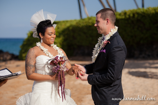 Maui elopement on the beach by Simple Maui Wedding