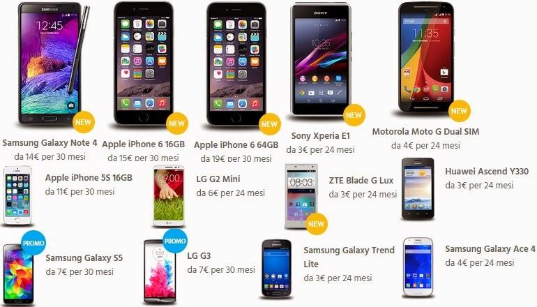 Fastweb Mobile 500: smartphone acquistabili a rate