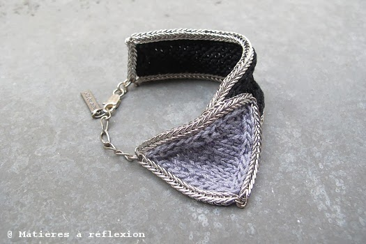 bracelet wear and tear gris et noir