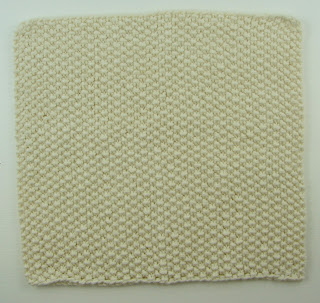 knit washcloth white seed stitch