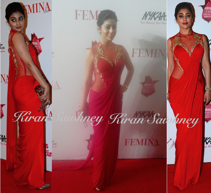 Shriya Saran At Femina Beauty Awards 2015 in Gaurav Gupta