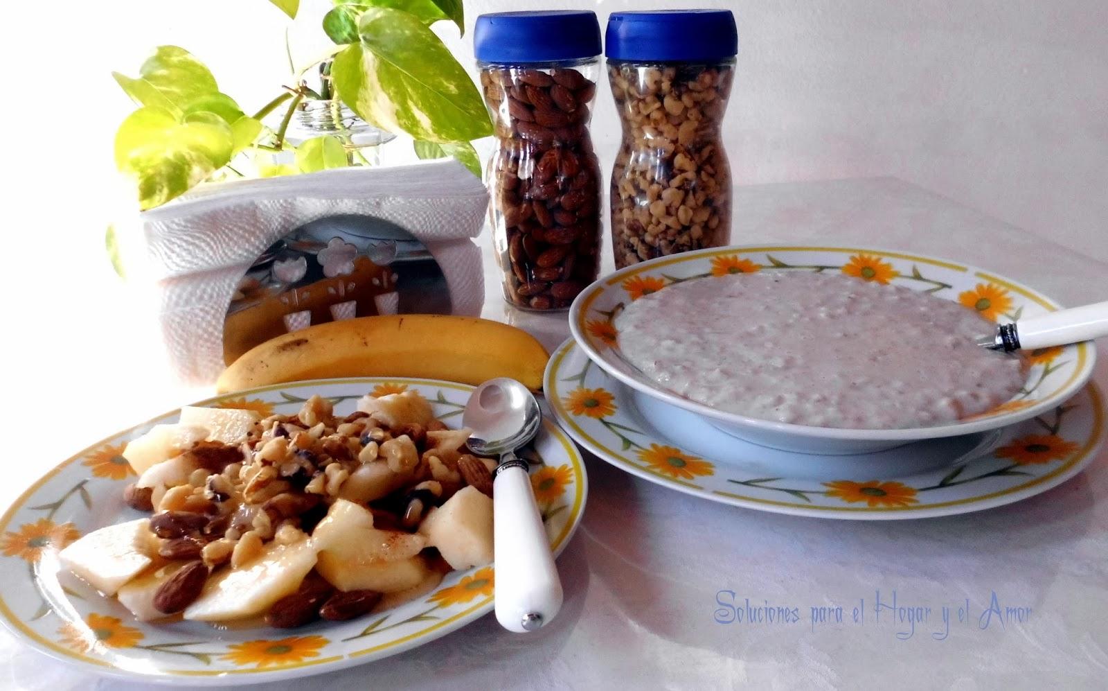 Desayuno sano, nutritivo y natural