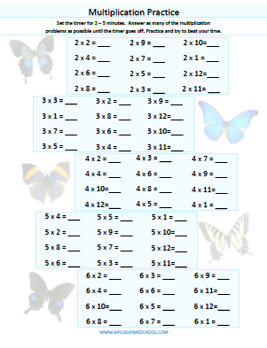 math worksheet : aplus homeschool resource blog  free lesson plan math ebooks  : Multiplication Drill Worksheet