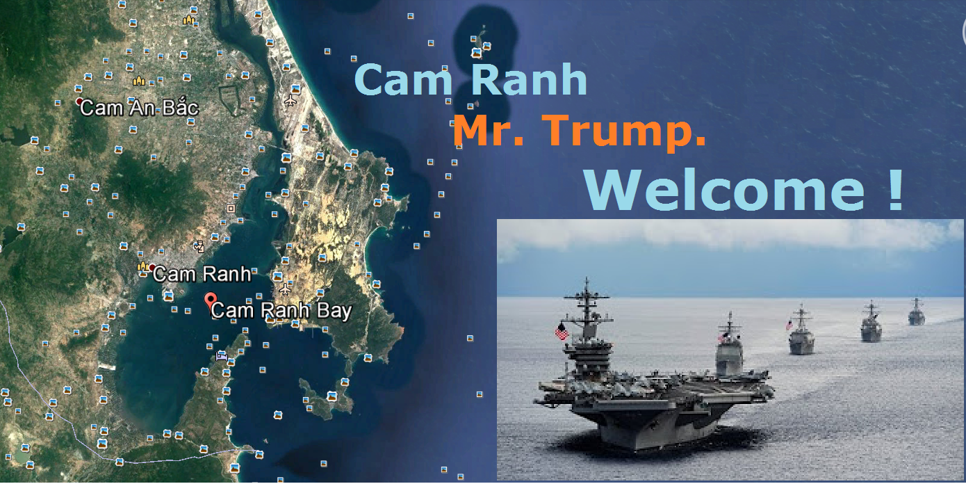 Đà Nắng - Cam Ranh (VN): Mr. Trump. WELCOME !