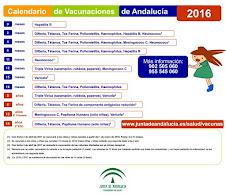 CALENDARIO VACUNAS INFANTILES 2016