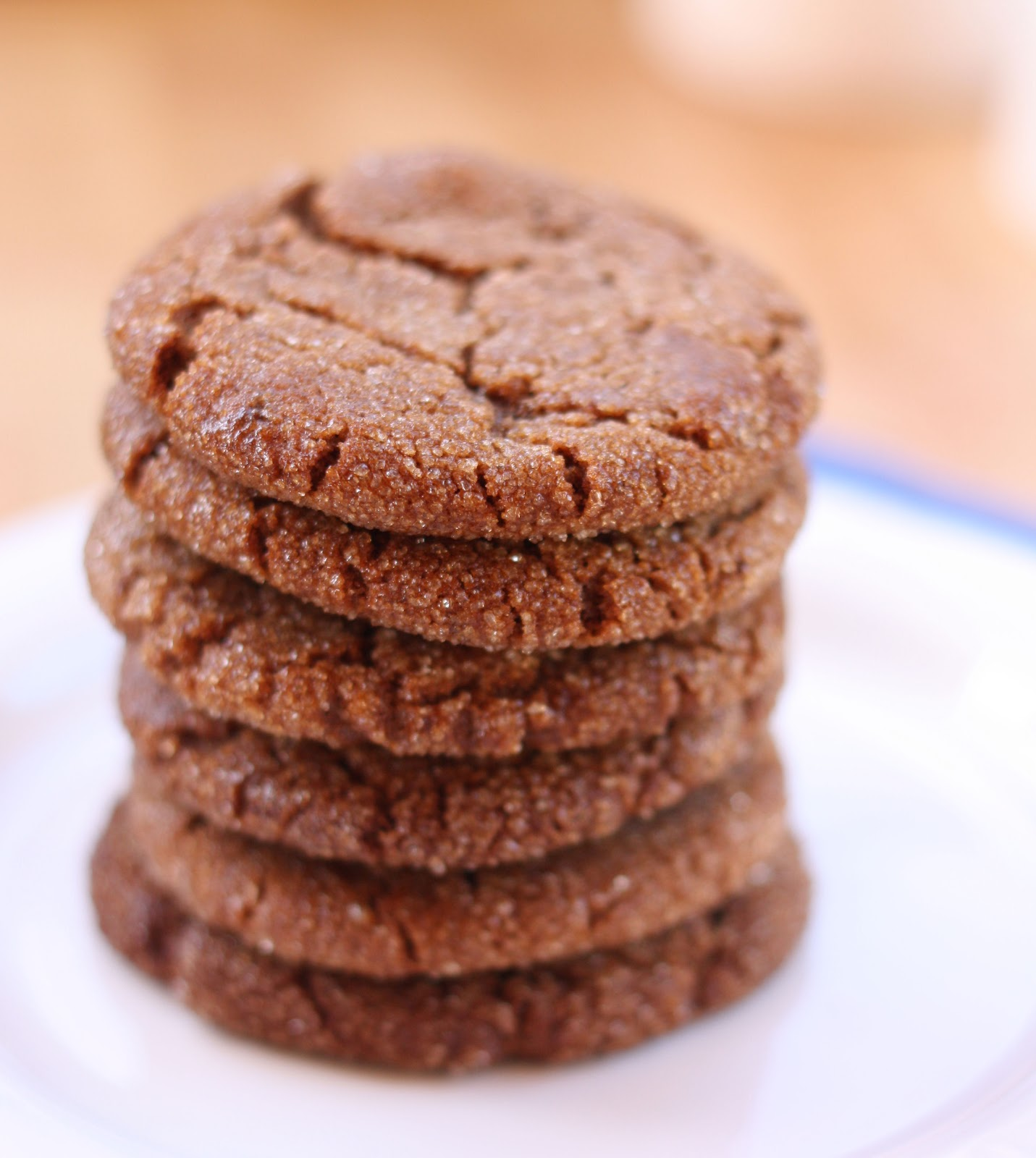 ... adapted from Martha Stewart's Chewy Chocolate Gingerbread Cookies
