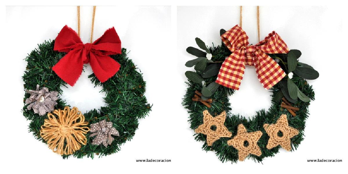 Ideas para navidad coronas para colgar for Coronas de navidad