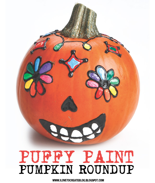 Ilovetocreate blog more puffy paint pumpkin painting fun Funny pumpkin painting ideas