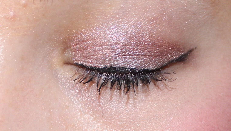 Revlon ColorStay Skinny Liquid Liner in Black Out on eyes