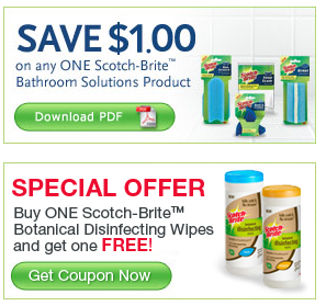 Free Scotch-Brite Sponge and Wipes