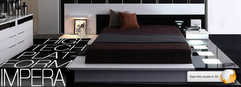 Platform bed with lights jpg