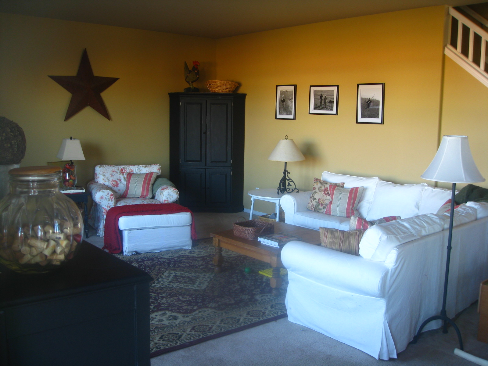 Freckle Face Girl Family Room Before & After
