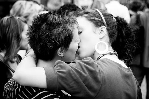 the single lip kiss