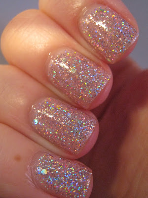 Topshop-Adrenaline-pink-holographic-glitter-nail-polish-swatch