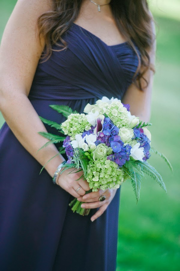 Purple White Green Wedding