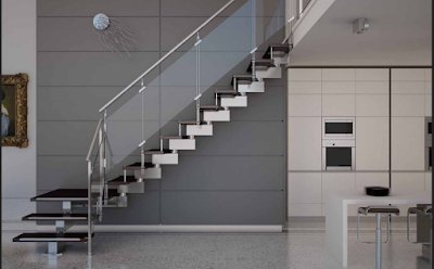 desain railing tangga modern