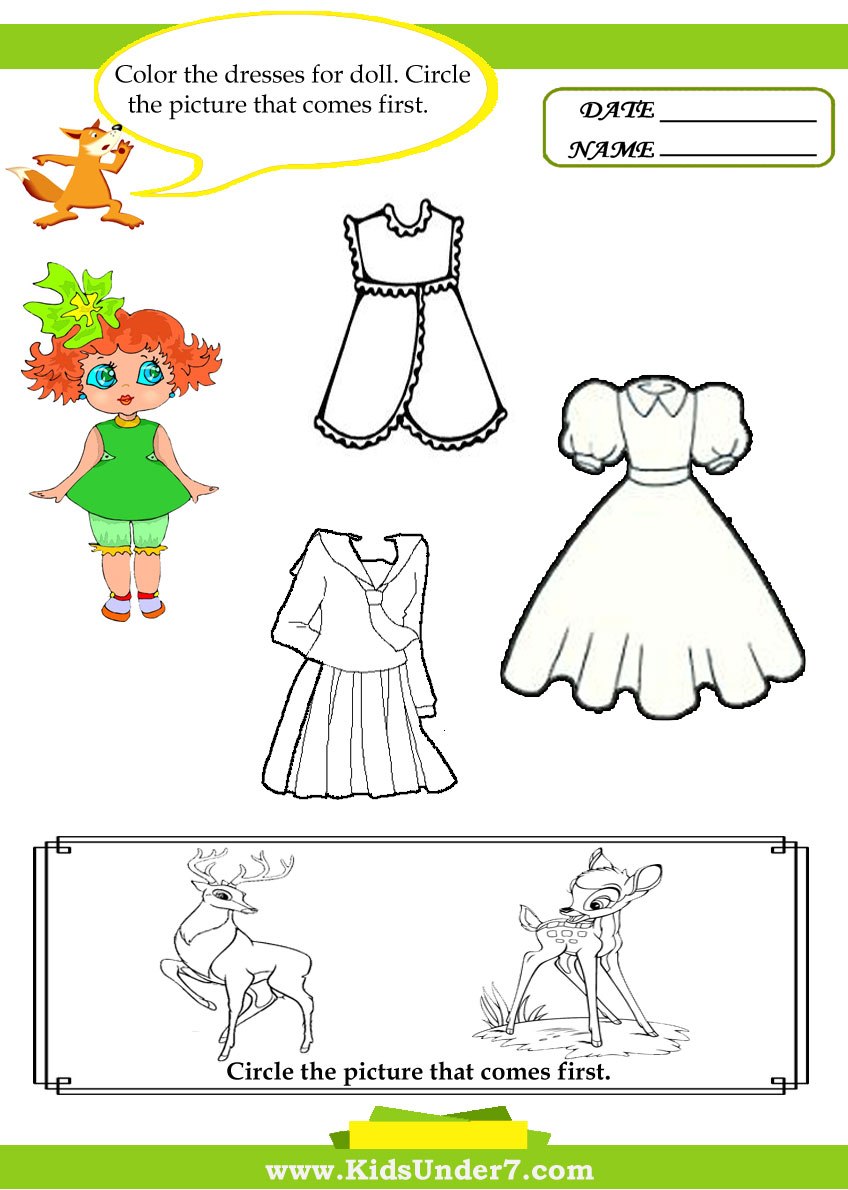 Kids Under 7: Letter D Worksheets and Coloring Pages