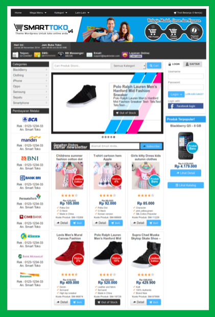 Template toko online premium