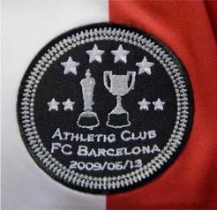 Logotipo que lució el Athletic Club en sus camisetas en al final de Mestalla