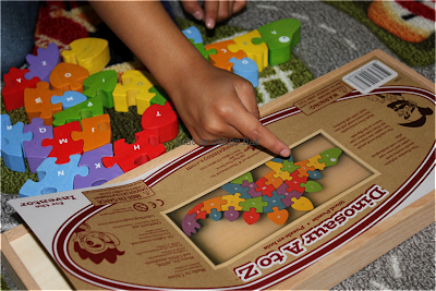 dinosaur a to z puzzle photo guide