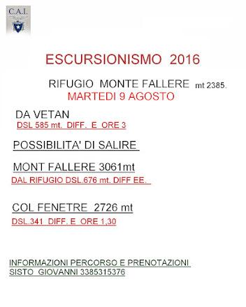 ESCURSIONISMO 2016