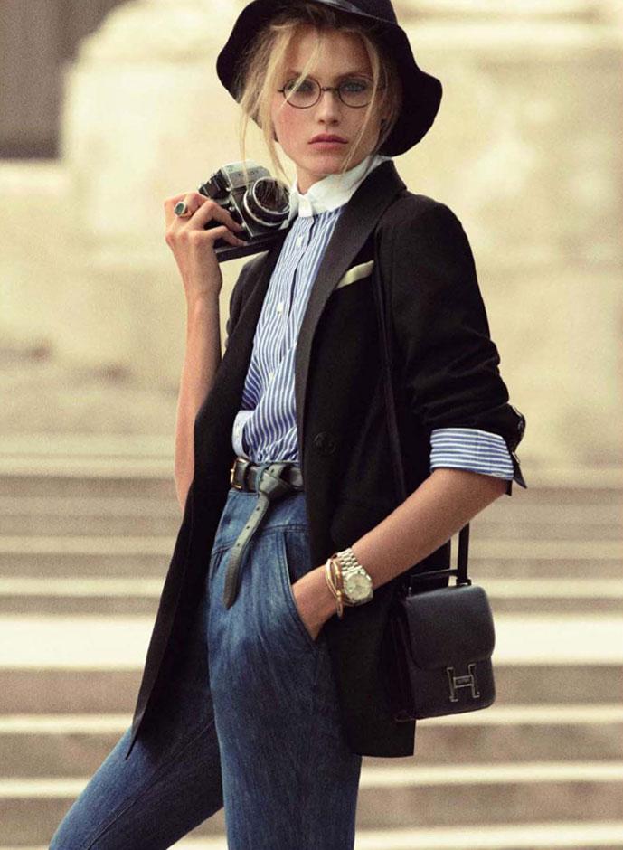 Anna Maria Jagodzinska in Diane K / Vogue Paris September 2009 (photography: Mikael Jansson; styling: Anastasia Barbieri)