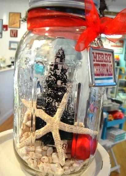 Christmas decor jar