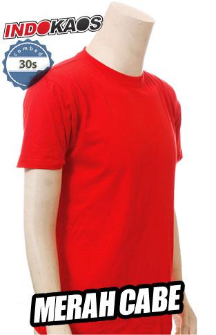 Kaos Polos 30s Merah