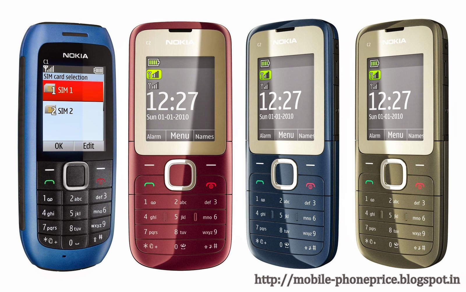 Mobile Price: Nokia C1 & C2