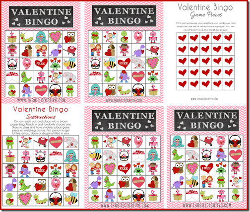 valentines day bingo printable via that girl creative valentines day bottlecap images