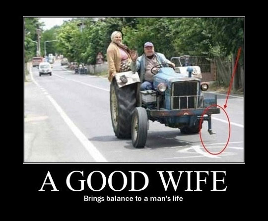 A Good Wife - Brings Balance To A Man's Life