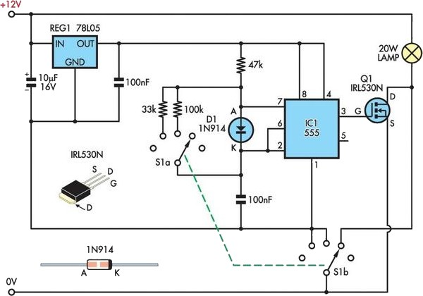12 volt led circuit diagram images upgrading an led camping 12 volt led dimmer circuit also high power driver