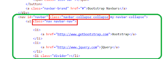 Bootstrap Tutorial Lesson 3 - Navbars with DropDownLists   4