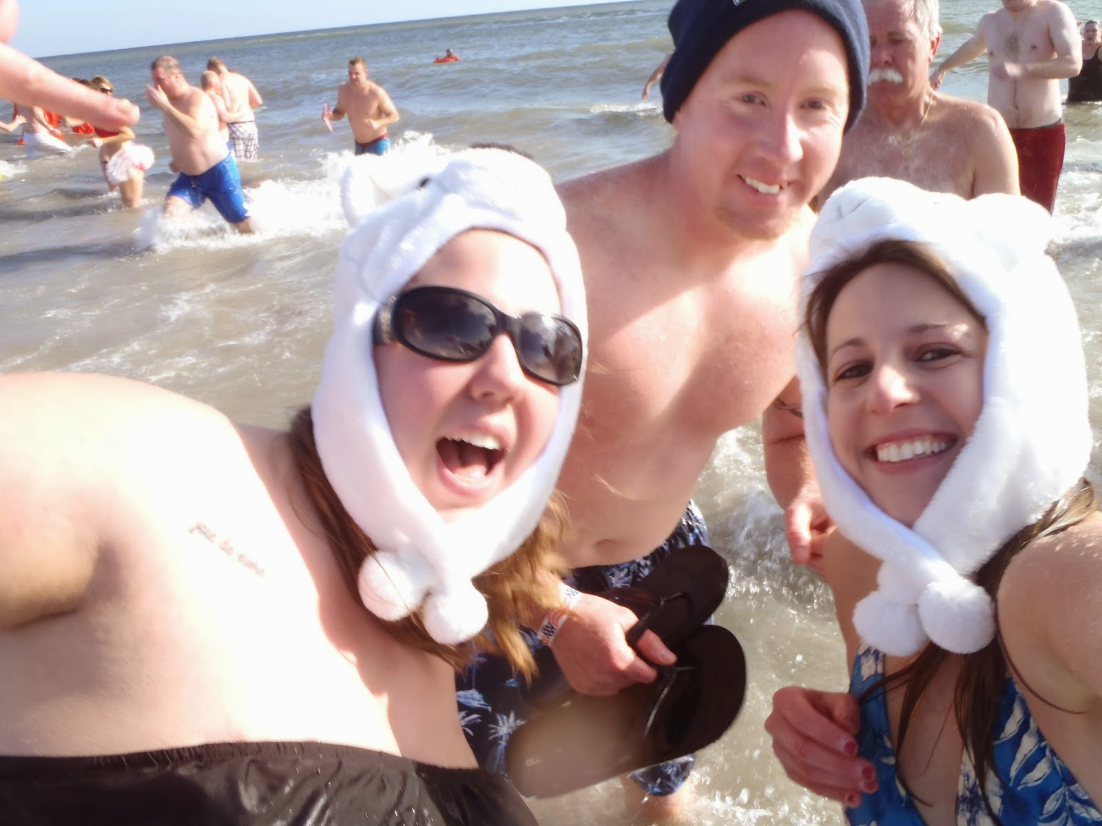 Polar Bear plunge NJ Selfie