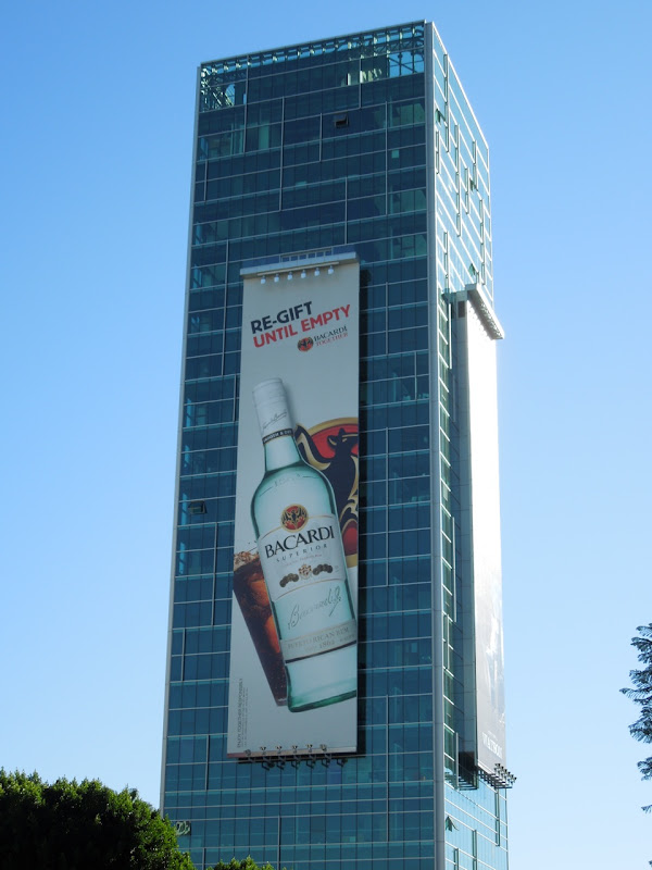 Bacardi re-gift until empty billboard