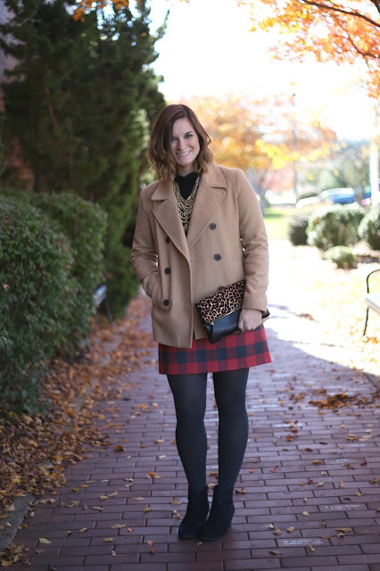 holiday style, how to wear a pea coat, pattern mixing