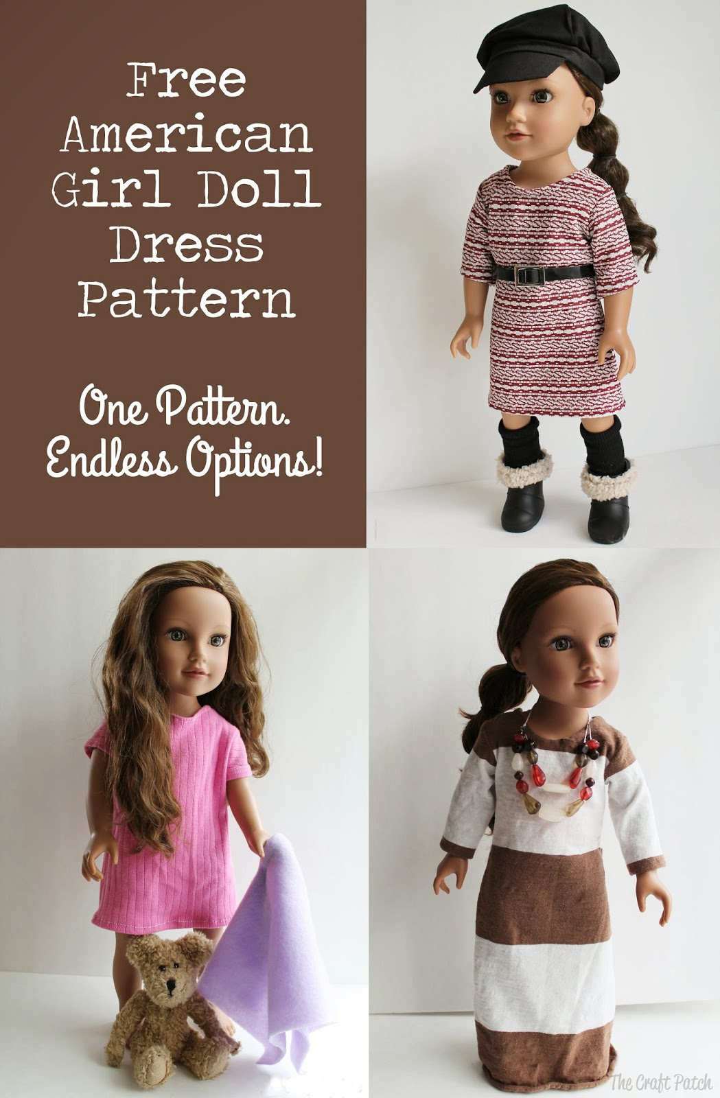 The Craft Patch: American Girl Doll Basic Knit Dress ...