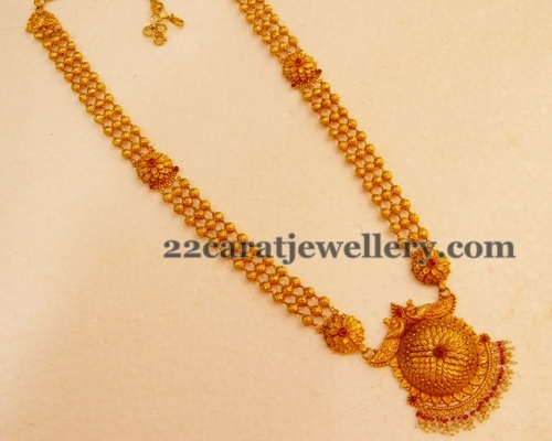Gold Mohan Mala Jewellery Designs