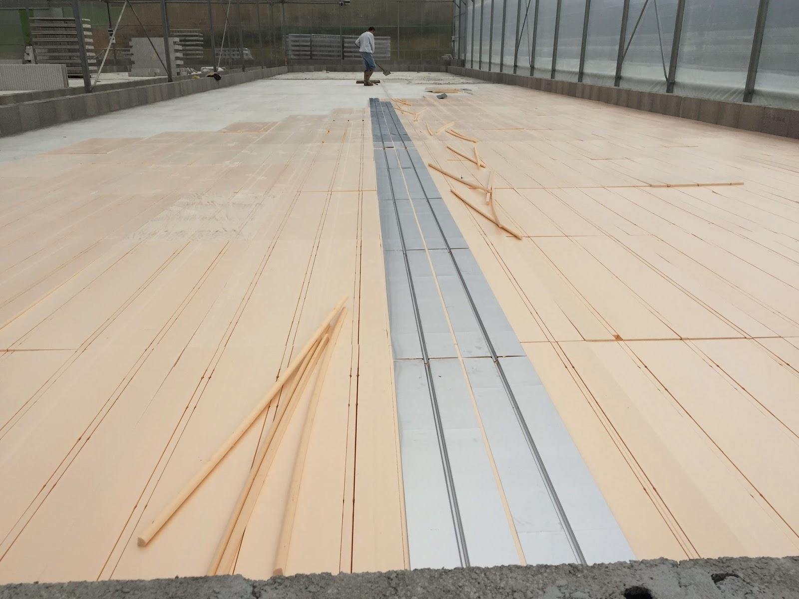 Pose de 1000m² de plancher chauffant pour spiruline