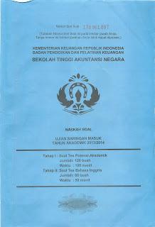 Soal USM STAN 2013 (ASLI)