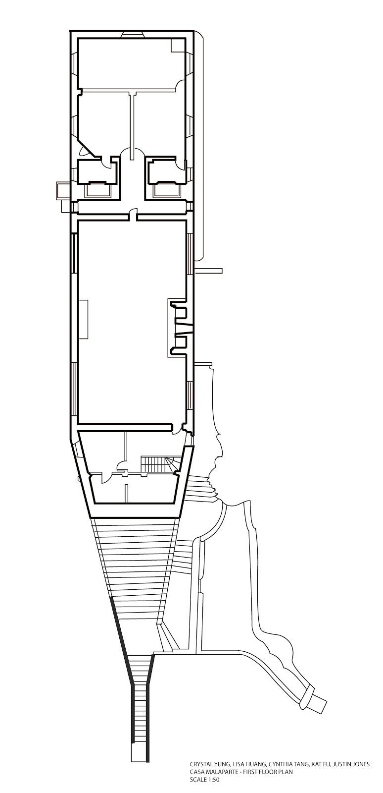 casa malaparte gallery ground floor plan