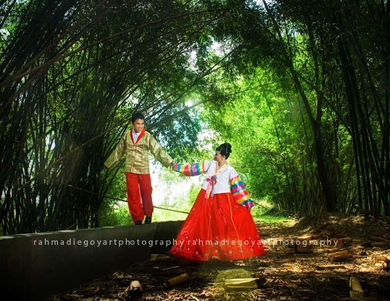 foto prewedding konsep korea