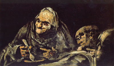 Two Old Men Eating Soup - Francisco Goya - Dos viejos comiendo sopa