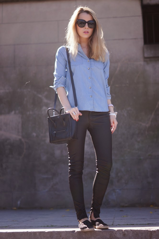 Topshop, BLKDNM, Céline, Chanel, fashion blogger, paris, parisienne, streetstyle, chic, leather pants