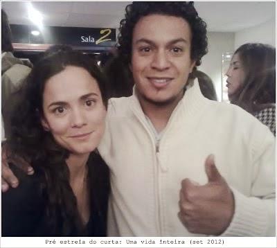 Hugo Paz e Alice Braga