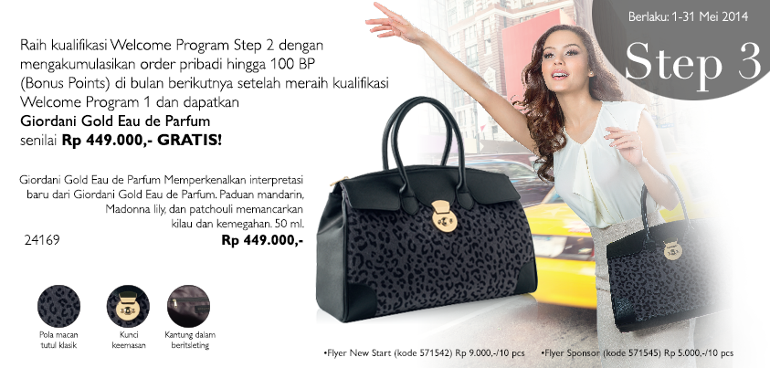 Daftar Member Oriflame Mei 2014 - Hadiah Welcome Program 3