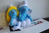 Papeis de carta e pelucia dos Smurfs