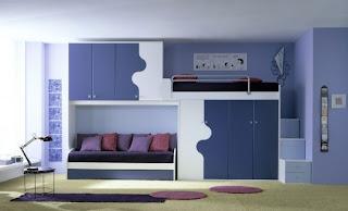 habitación azul para hermanos