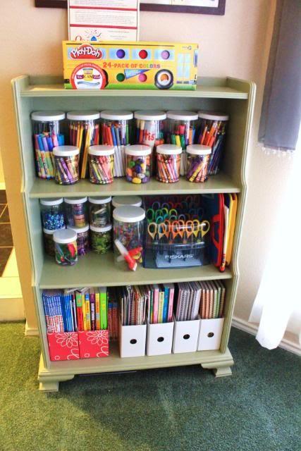 Kids Art Supplies Organization 427 x 640